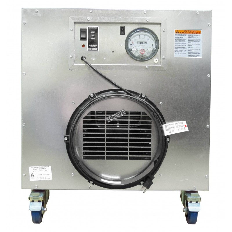 HEPA-AIRE portable air scrubber with airflow of 1300 or 2000 cfm. Ideal for asbestos abatement & decontamination workzone