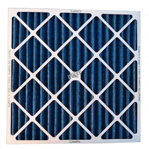 """Filtre secondaire pour purificateur d'air HEPA-AIRE/BULLDOG. Filtre 24""""X24""""X2"""" pour particule 3 à 10 µm"""