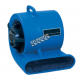 RAPTOR two speed air mover for intensive work. Low speed of 875 cfm & high speed of 1125 cfm. Operating amps of 2.4 A to 2.8 A.