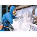 Sac à gants jetable pour tuyau horizontal de 8 po de diamètre et moins. Idéal pour le retrait d'isolant d'amiante. 25 sacs/boite