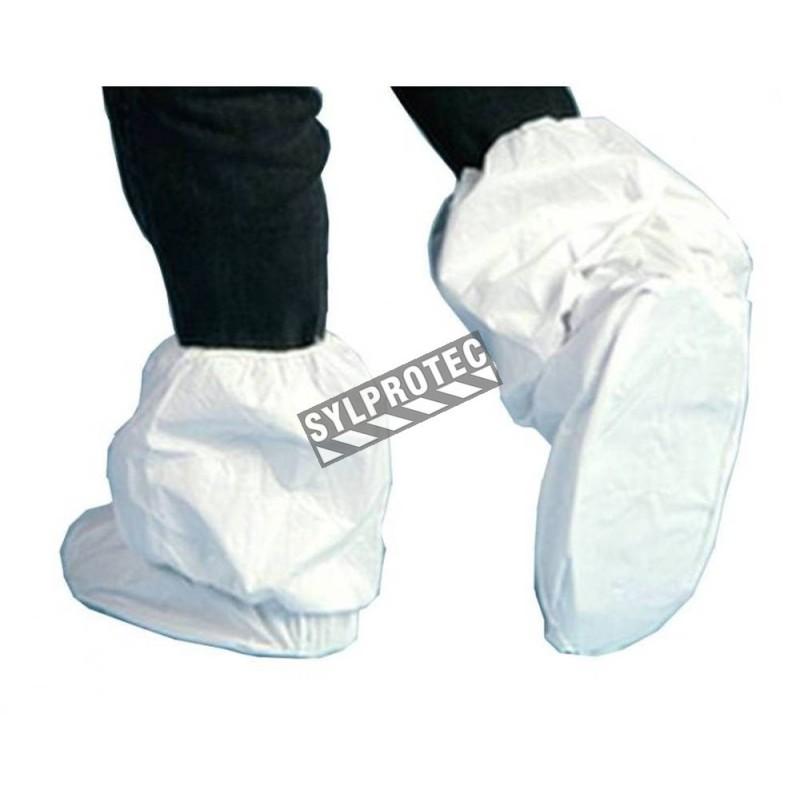 Couvre-bottes tout-usage jetables 18 po. en tyvek avec élastique (paire)