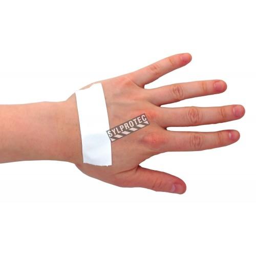 Waterproof white adhesive tape, 1 in x 15 ft.