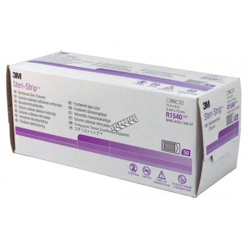 3M Steri-Strip skin closure bandages, 250/box.