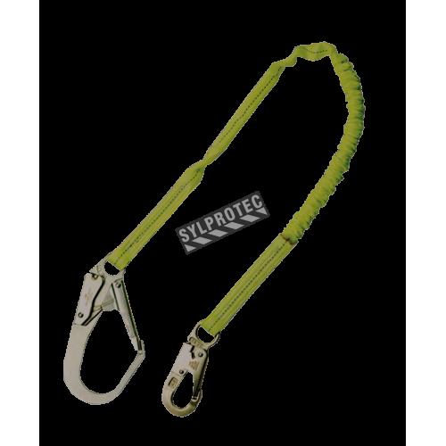 Longe tubulaire North en polyester avec cordon amortisseur interne et un mousqueton pour tige d'armature. 1 po