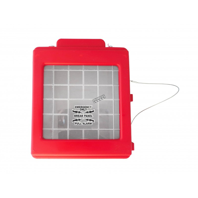 CATO™ red HDPE manual pull station cover with acrylic window, for flush-mounted pull stations.
