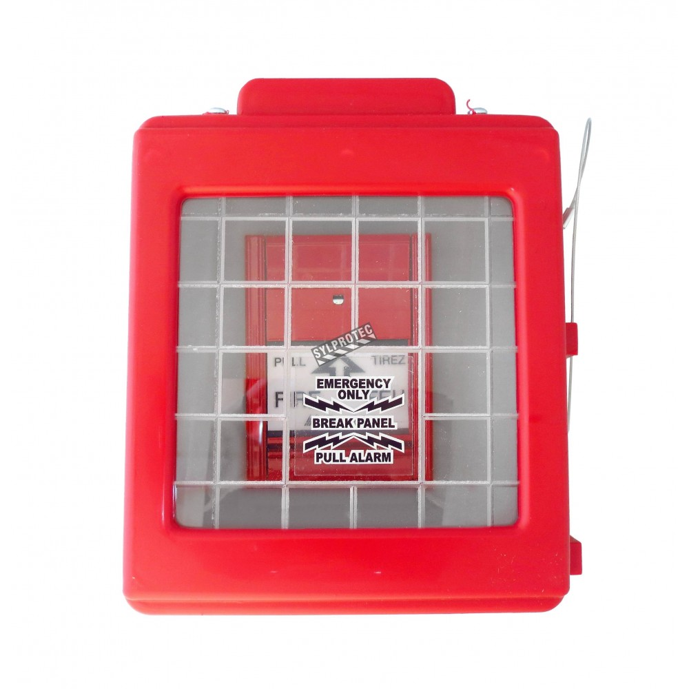 Cato red hdpe manual pull station cover with clear for Acrylic windows