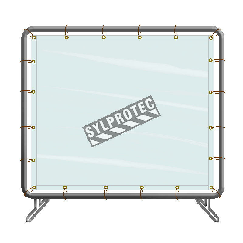 Portable vinyl welding screen, 5 x 4 ft, choice of color.
