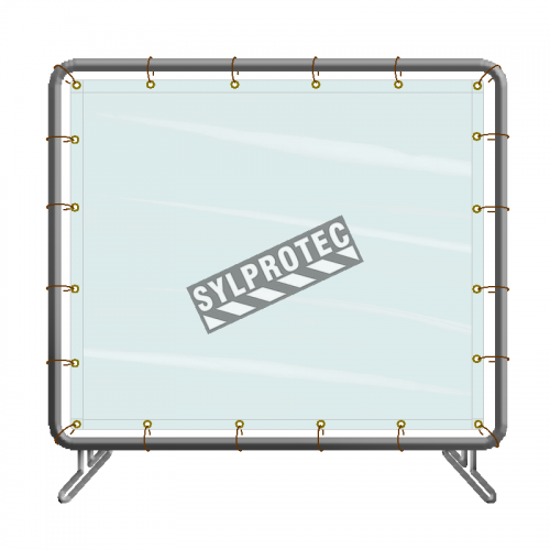 Portable vinyl welding screen, simple panel, 5 x 6 ft, choice of color.