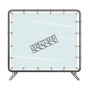 Portable vinyl welding screen, simple panel, 5 x 8 ft, choice of color.