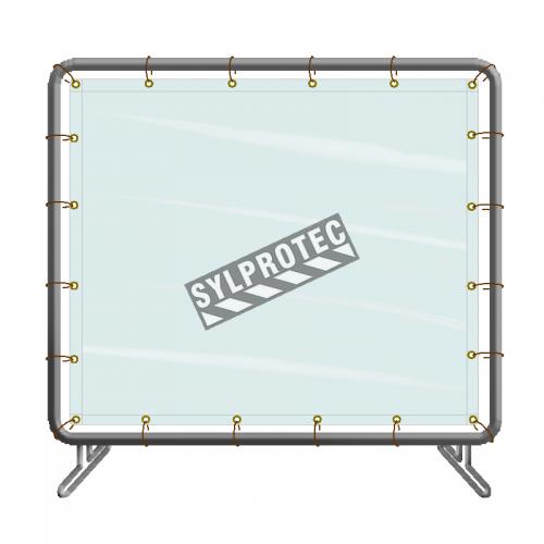 Écran de soudure portable en vinyle, panneau simple, 6 x 8 pi, couleur au choix.