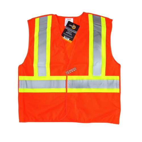 Veste de circulation orange fluo, CSA Z96 classe 2, 100% polyester