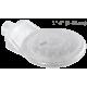 Capteur de poussière pour perceuse avec un emporte-pièce (diamètre 4 à 10 cm). Idéal pour la construction et la rénovation.