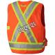 Veste d'arpenteur en polyester orange fluo avec 14 poches, CSA Z96-15 classe 2 niveau 2.