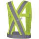 Bretelles haute visibilité jaune fluorescent avec bandes rétroréfléchissantes, CSA Z96-15 classe 1 niveau 2.
