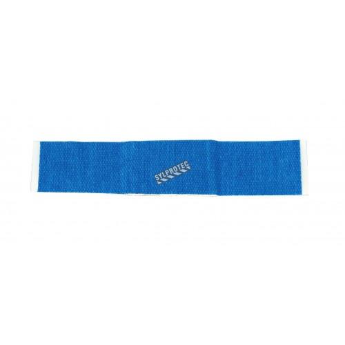 Elastic blue plastic detectable bandages, 2.2 x 7.5 cm (3/8 x 3 in), 100/box.