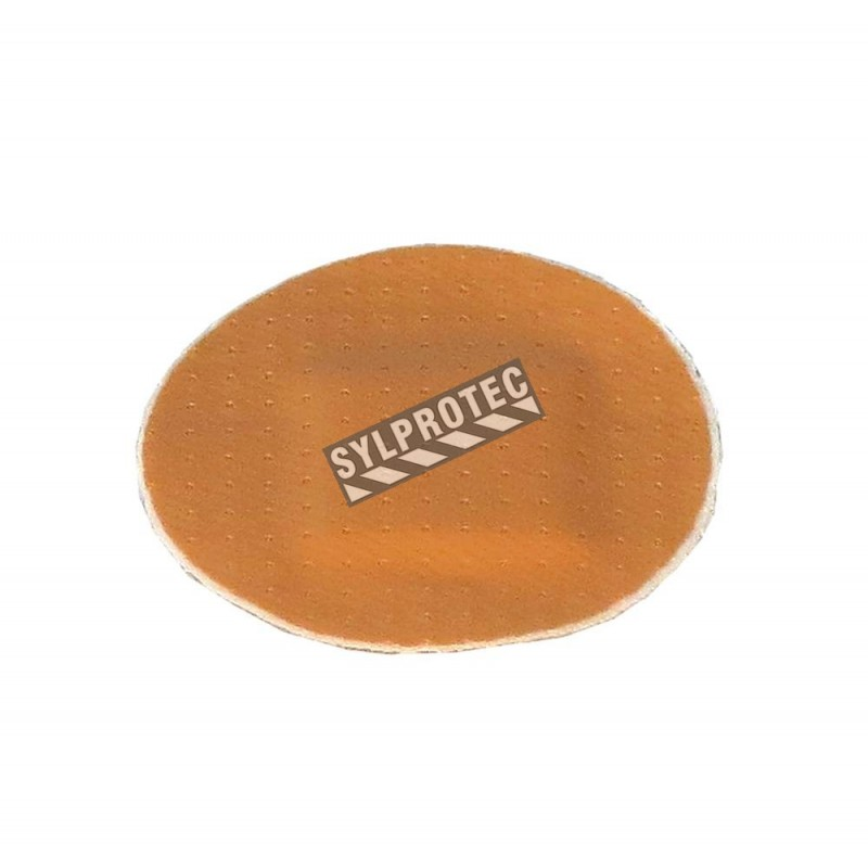 Pansements ronds en plastique beige sans latex, 2.2 cm (7/8 po), 50/bte.