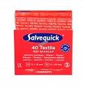 Recharge 40 pansements en tissu pour distributeur «Salvequick» (PS120).