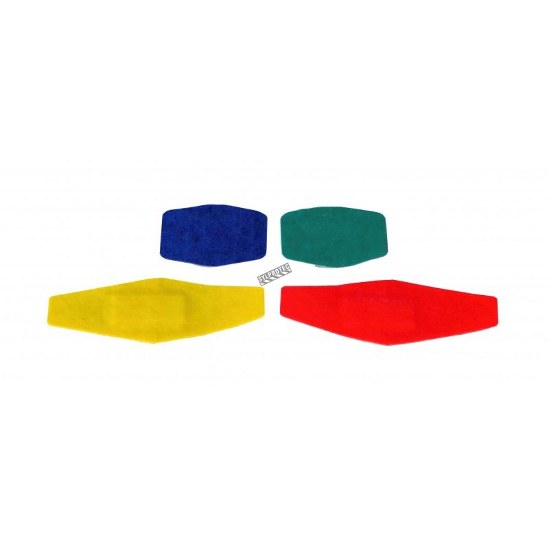 Foam multicolored bandages, 2.6 x 5.7 cm (1 1/16 x 2.25 po), 80/box.