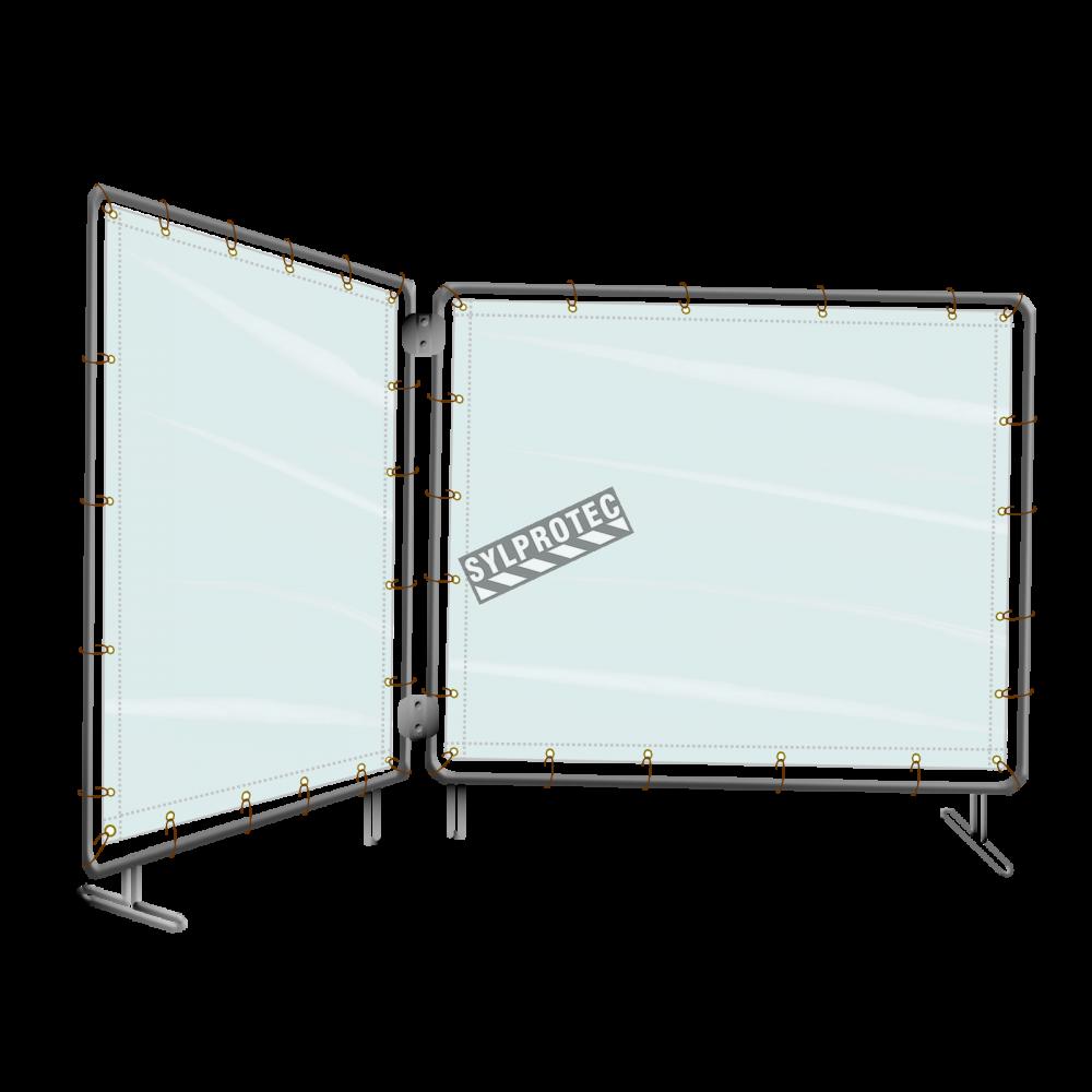 Portable Welding Screens : Portable vinyl welding screen ft
