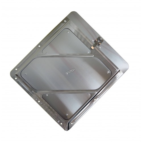 Aluminum holder with clip, 10-3/4 in X 10-3/4 in.