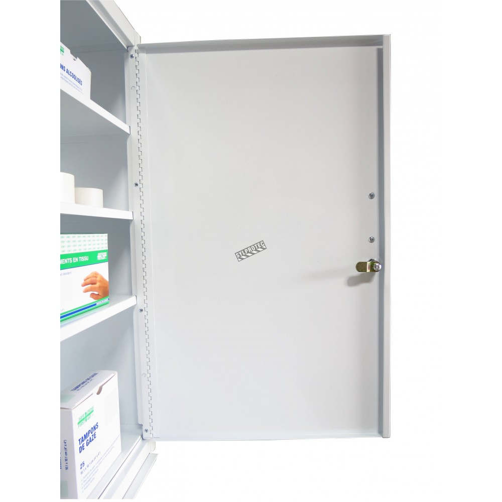 Wall Mounted Metal First Aid Cabinet With Solid Panel Door