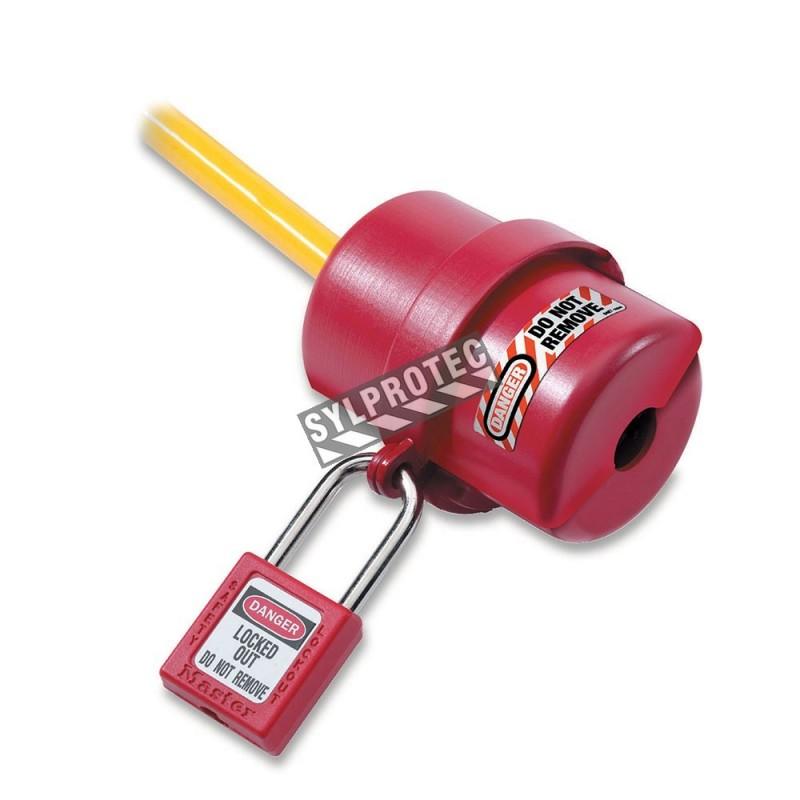 Verrous pour fiche électrique 110 Volts. Dispositifs sécuritaire de verrouillage rotatifs pour fiche électrique.