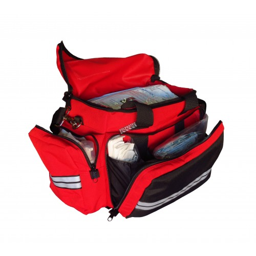 Paramedic trauma first aid kit in Cordura bag.