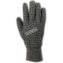 Salt and pepper jersey glove with knit wrist cuff, pair.