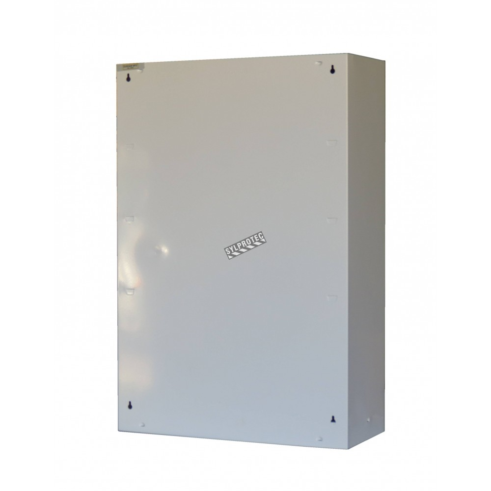 Plastic Panels For Cabinet Doors : Wall mounted metal first aid cabinet with clear panel door