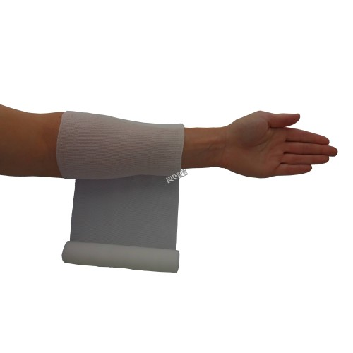 Sterile roll of stretch gauze bandage (KLEEN), 6 in x 12 ft, sold individually.