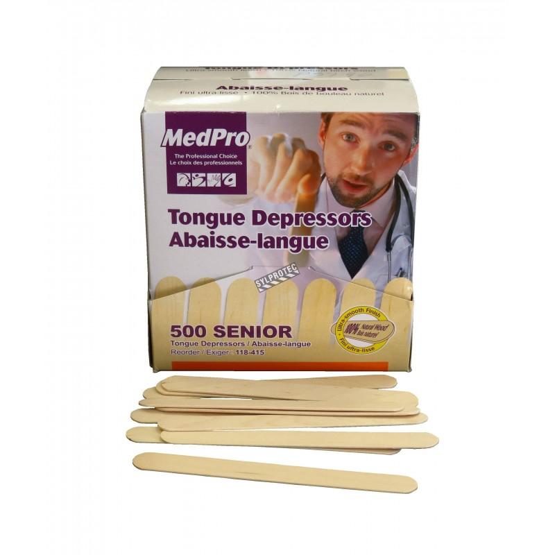 Non-sterile wooden tongue depressors, bulk, 500/box.