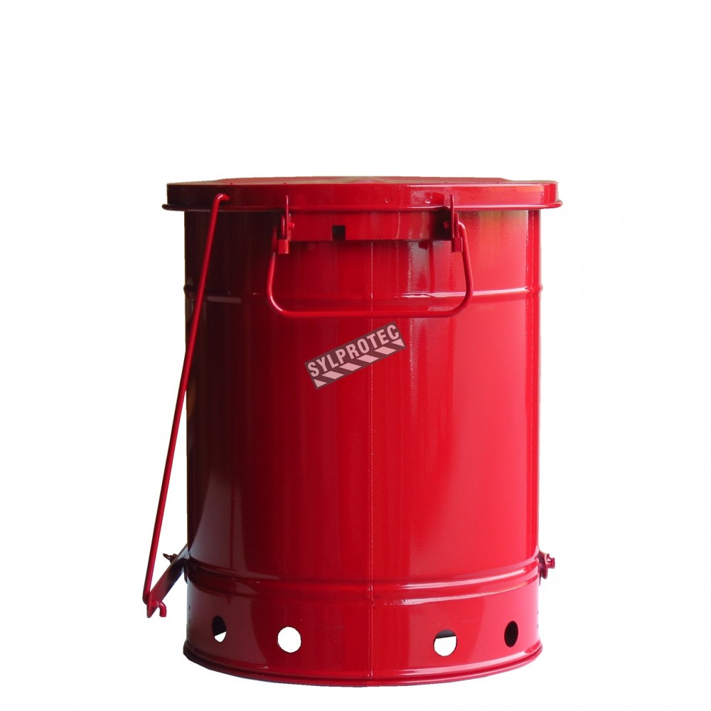 10 Gallon Container With Pedal For Oily Or Solvent-soaked