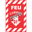 """French emergency """"Fire Cabinet"""" sign in various sizes, shapes, materials & languages + optional features"""