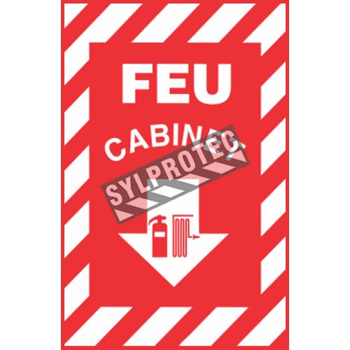Affiche d'urgence et d'incendie «Feu Cabinet» en divers formats, matériaux, langues & éléments optionnels