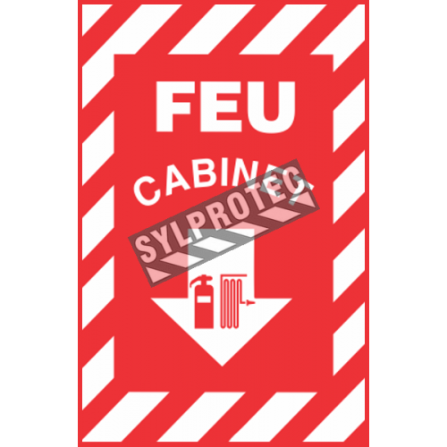 "French emergency ""Fire Cabinet"" sign in various sizes, shapes, materials & languages + optional features"