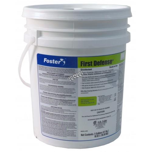 Désinfectant à base de chlorure d'ammonium quaternaire pour décontamination des moisissures/bactéries/virus. Seau de 5 gal US.