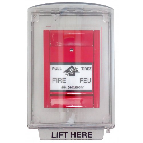Couvercle Universal Stopper sans alarme locale, mais avec instructions en anglais pour station manuelle encastrée