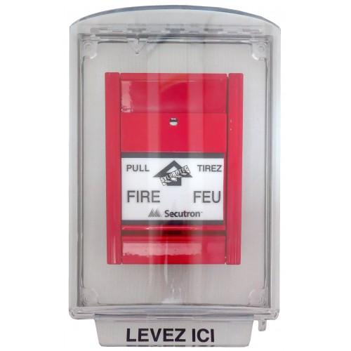 Couvercle Universal Stopper sans alarme locale, mais avec instructions en français pour station manuelle encastrée
