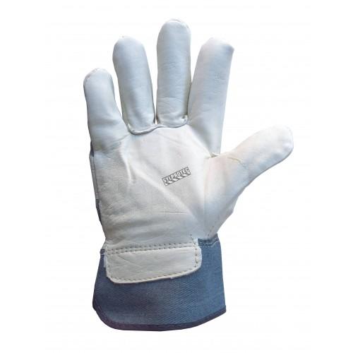 Gant de travail Endura en cuir lisse de vache et coton légèrement doublé. Protection ASTM/ANSI niveau 3. Vendu à la paire.