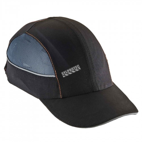 Ergodyne baseball-style bump cap with 4 LEDs. Lightweight protection against bumps.