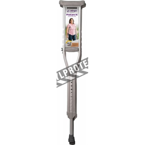 "Airgo ProCare IC aluminium crutches for adults. Adjustable from 112 to 132 cm (44"" to 52"")."