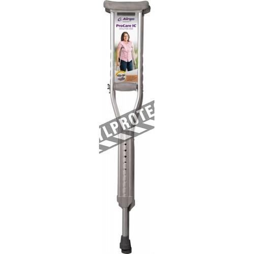 Béquilles ProCare IC de Airgo en aluminium pour adultes, avec poignées rembourrées. Ajustables de 112 à 132 cm.