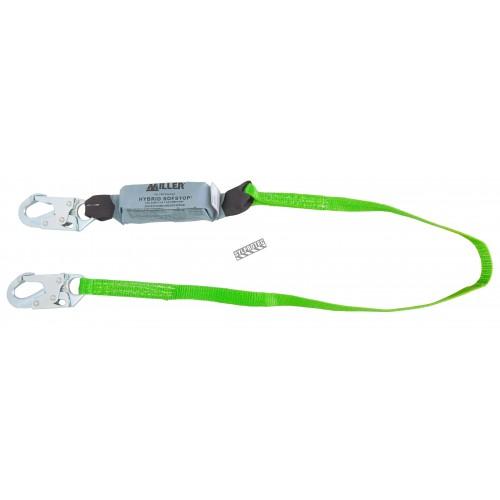 Longe Hybrid SofStop par Miller, avec absorbeur d'énergie et 2 mousquetons standards, CSA classes E4 et E6. 1 po x 4 pi.