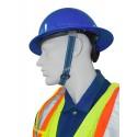 Mentonnière à 2 points en polyester élastique compatible avec la majorité des casques de sécurité MSA. Vendu à l'unité