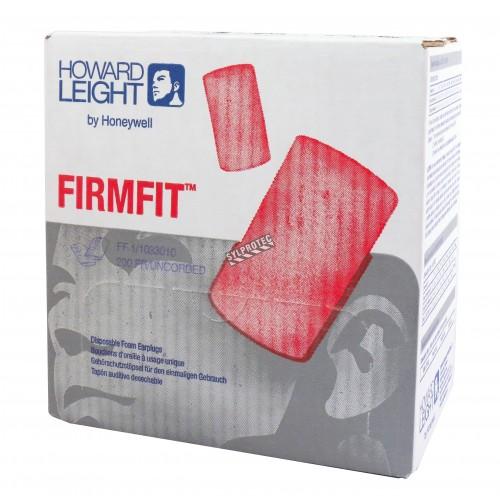 Honeywell Firmfit uncorded earplugs, 30 dB, box of 200 pairs.
