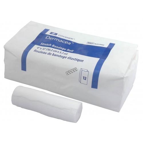 Rouleaux de bandage de gaze non-stériles, 4 po x 12 pi, 12/bte.