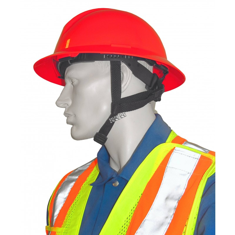 Mentonnière accessoire à 4 points en nylon élastique pour casques de sécurité A119R de North. Vendu à l'unité