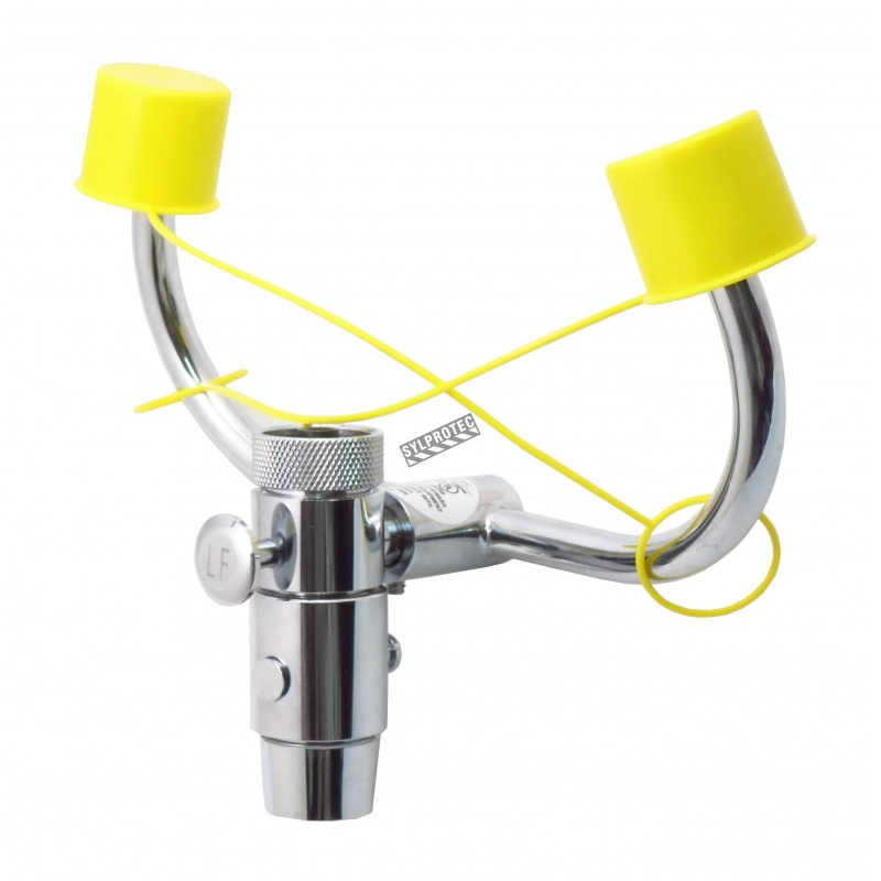 Faucet eyewash station for laboratories, certified ANSI Z358.1-2009.