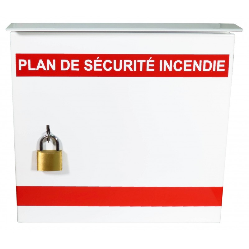 boite pour plan d 39 urgence 13 3 8 l x 13 3 8 h x 4 1 4 p francais. Black Bedroom Furniture Sets. Home Design Ideas