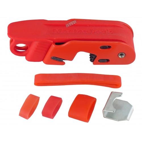 Verrou Master Lock Grip Tight 493B pour la plupart des disjoncteurs simples et doubles.